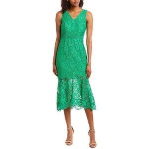 NWT Nanette Lepore Green Lace Midi Dress